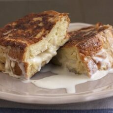 Eggnog-Stuffed French Toast