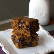 Chocolate Chip Pumpkin Bars