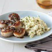 Seared Scallops with Herb Sauce