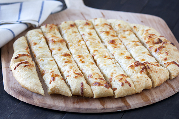 Cheesy Beer Breadsticks