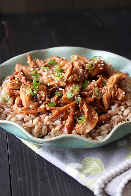 Slow Cooker Honey Sesame Chicken from Handle the Heat