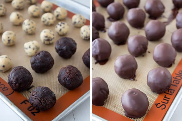 Homemade Cookie Dough Brownie Bombs