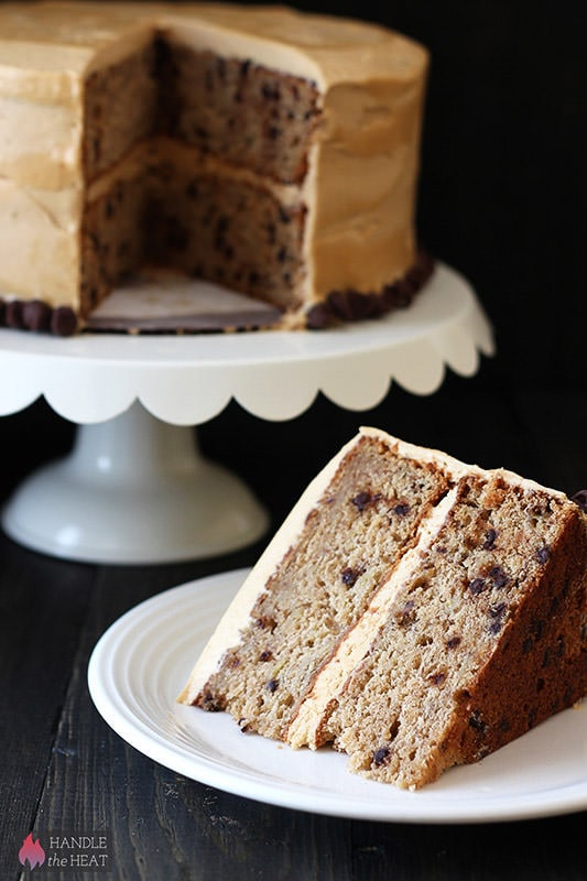 sweet flavors, Banana Chocolate Chip Cake with Peanut Butter Frosting ...