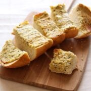 Caramelized Onion Goat Cheese Garlic Bread