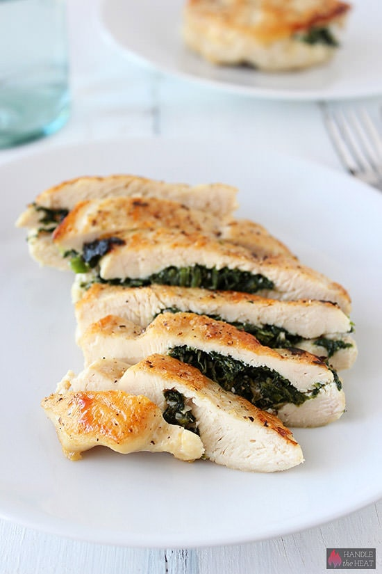 Greek-inspired Spinach and Feta Stuffed Chicken is delightfully juicy ...
