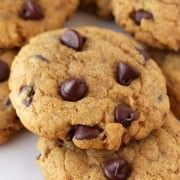 Pumpkin Chocolate Chip Cookies - these are actually soft yet CHEWY! Not cakey!