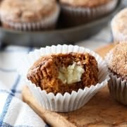 Pumpkin Cheesecake Snickerdoodle Muffins