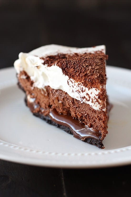 Chocolate Caramel French Silk Pie is the BEST PIE EVER! Easy Oreo ...