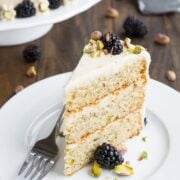 Made-from-scratch 3-Layer Pistachio Cake